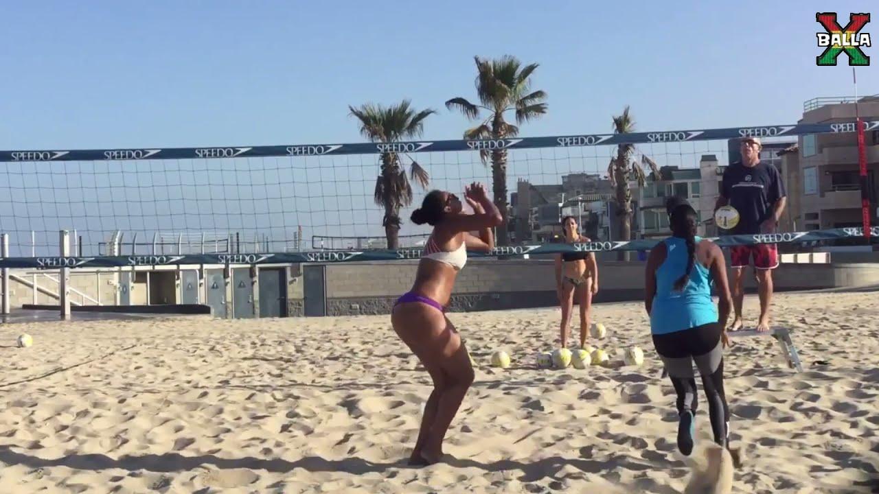 Big booty falyn fonoimoana Beach volleyball training!
