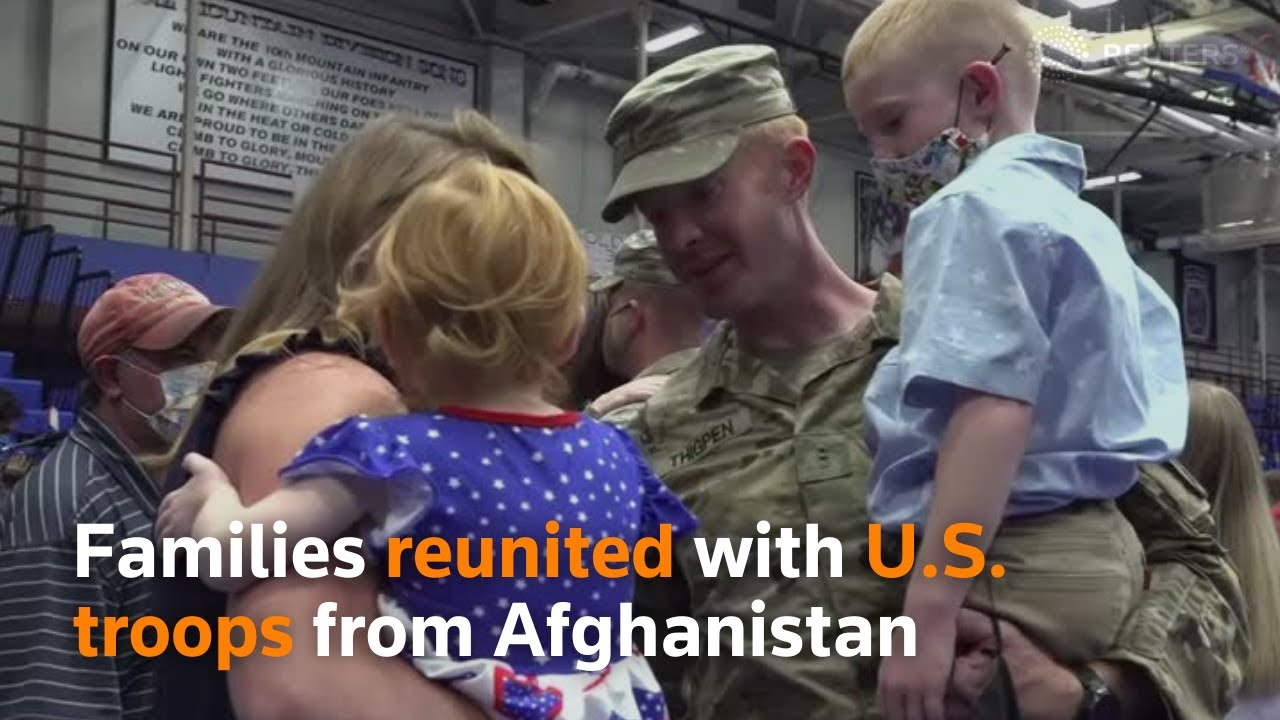 Families reunited with U.S. troops from Afghanistan