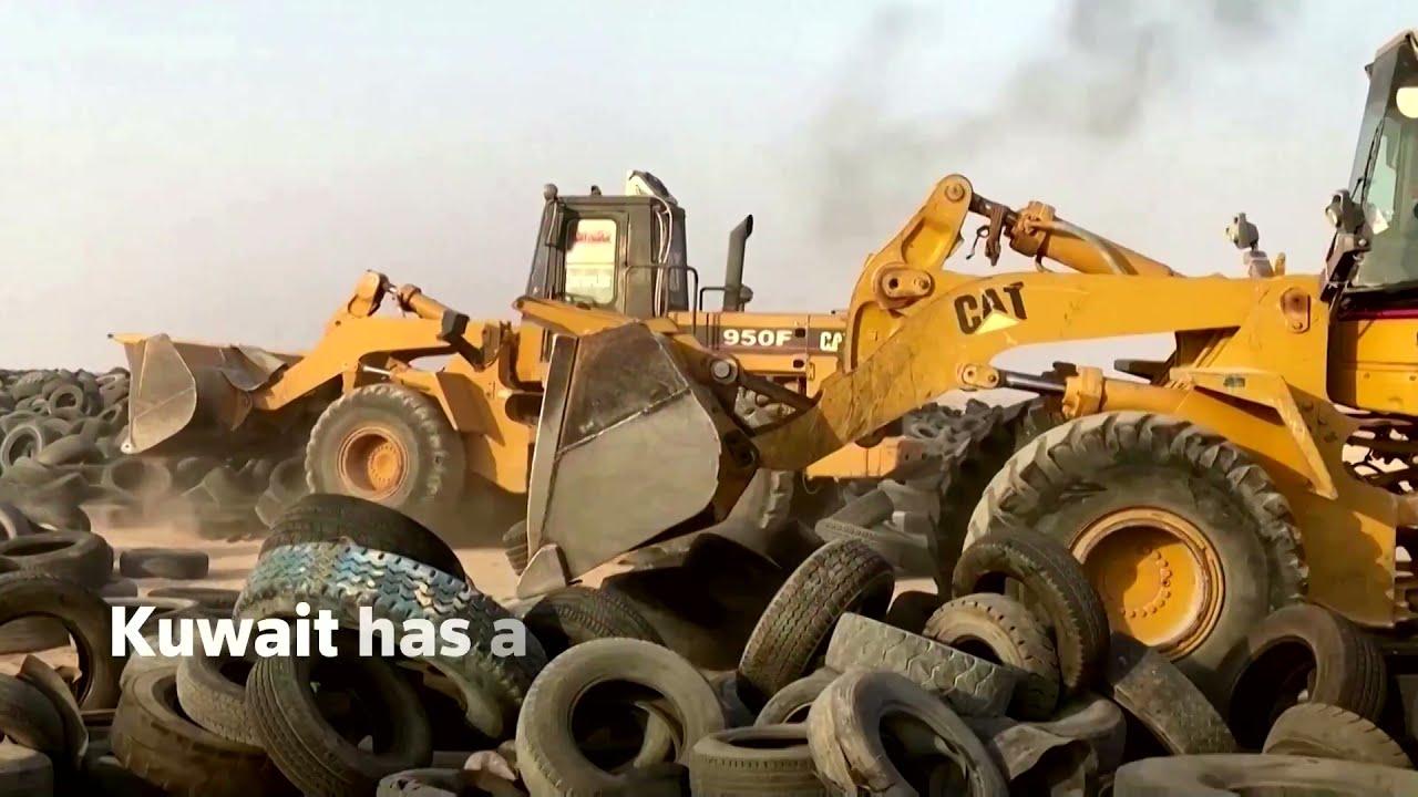 Kuwait starts to recycle massive Tyre graveyard
