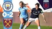 Man City highlight|city 0-2 West Ham|WSL
