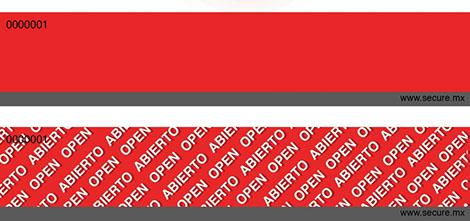 rojo con gris numerado