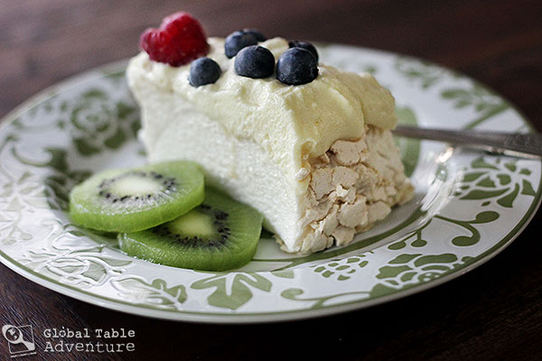 Pavlova with Summer Berries & Kiwifruit | Global Table ...