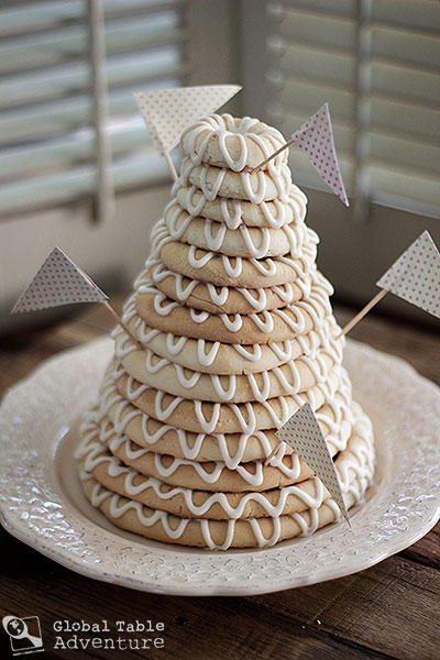 swedish wedding cake cookie recipe scandinavian ring cake kransekake global table adventure 20684
