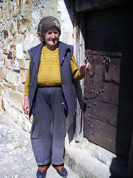 Grandma Jovanka, guardian of Petrova church. Photo by Jovanvb.