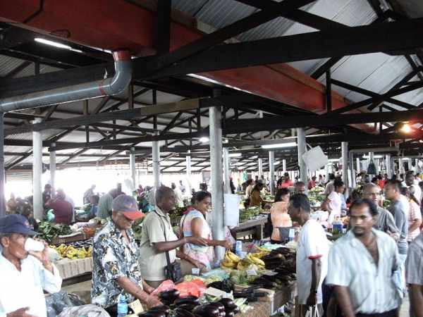 Market in Lelydorp, Suriname. Photo by Mark Ahsmann.