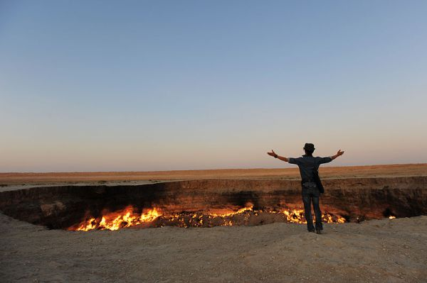 The Darvasa gas crater in Turkmenistan. Photo by Tormod Sandtorv.