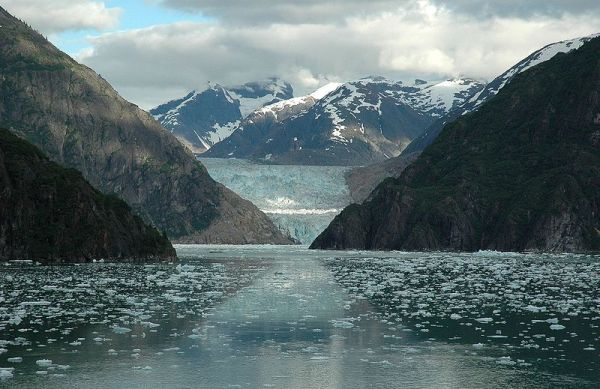 Glacier in Alaska. Photo by Peter Mulligan.