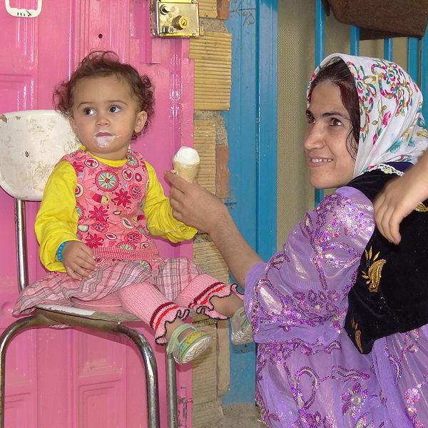 Kurdish Mother and child. Photo by Adam Jones.