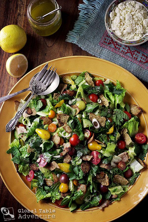 Fattoush, a Levantene Salad for Kahlil Gibran | Global ...