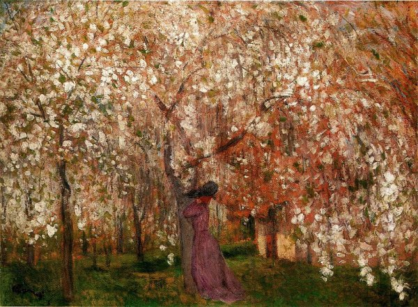 Sour Cherry Tree in Blossom (1909). Photo by