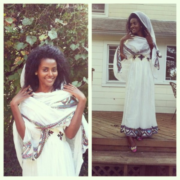 Clothes for Ethiopian New Year; Photo by @Magitareke on Instagram