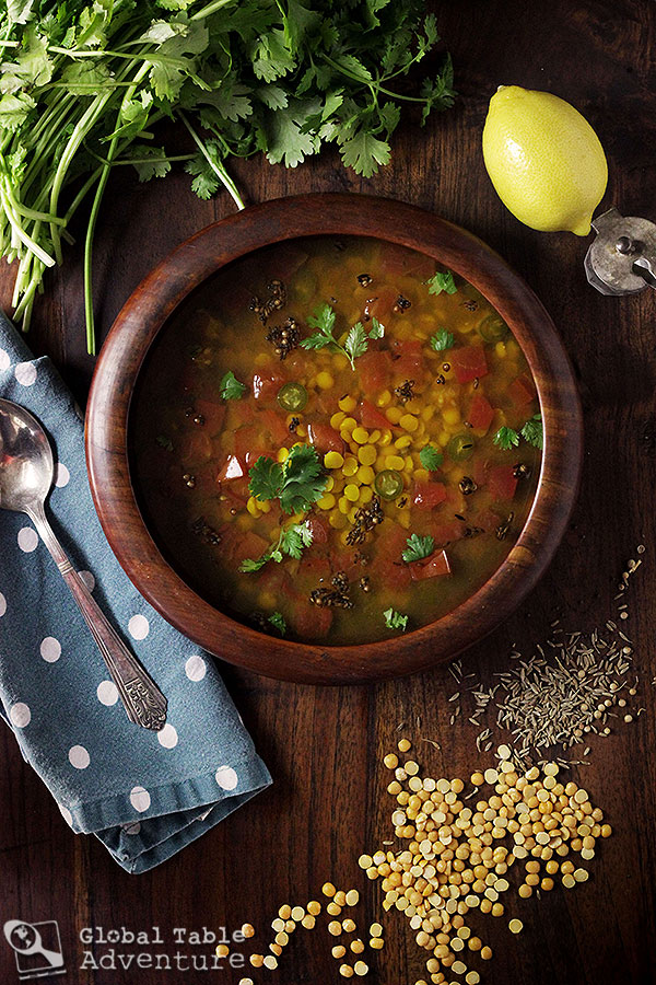 Lemon Rasam - one of Gandhi's favorite recipes.