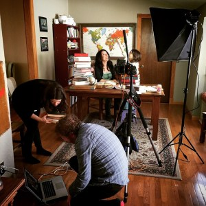 Behind the scenes: Photo shoot forFood & Wine.