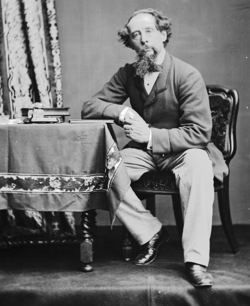 Charles Dickens circa 1860.