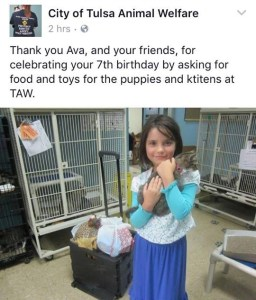 Donate your birthday party