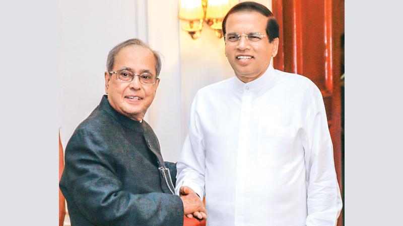 maithripala-pranab-mukherjee