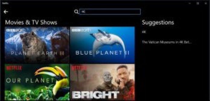 Netflix 4K-film og tv-shows
