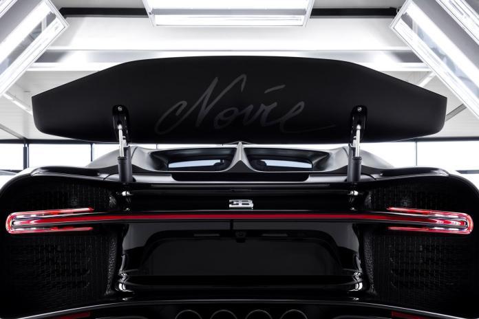 Bugatti Chiron Edition Noire Sportive Rear Spoiler