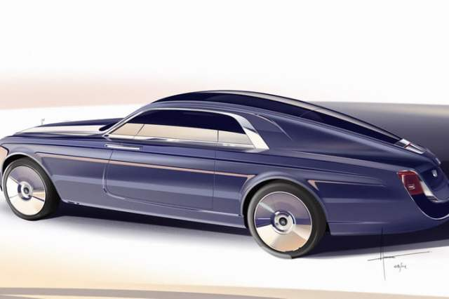 Rolls-Royce-Sweptail Right Side View