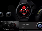smartwatch and AirPods-like earbuds