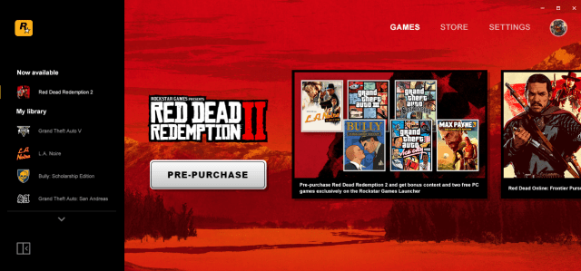 Rockstar Game Launcher Pre-Purchase Bonus for Red Dead Redemption 2 PC