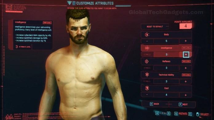 Cyberpunk 2077 Character Customization