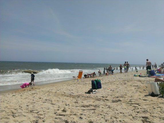 Ocean City beach, near 120th St.