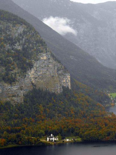 """""""The monastery across Hallstatt Lake in Austria Taken from the salt mine entrance."""" - Mike E."""