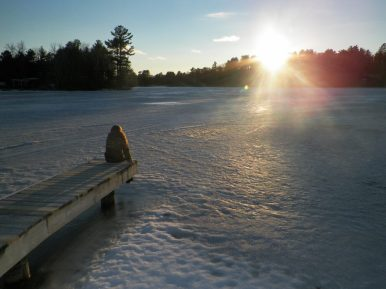 Mike S. - Sittin' on the dock of the bay during winter time. Gull Lake, Michigan.