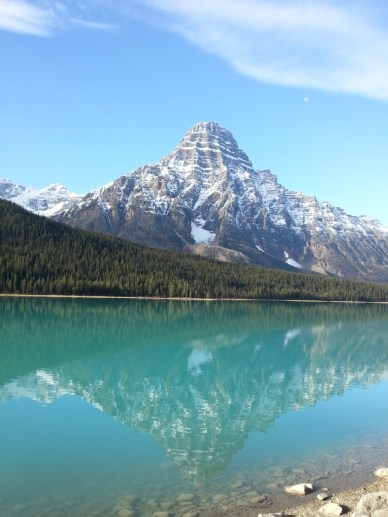 Reflection from the highway from Banff to Jasper, Canada. Courtesy of member Diane M.