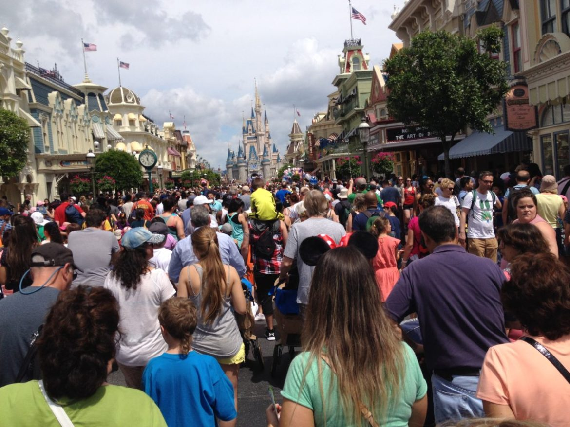 Disney World Magic Kingdom crowd