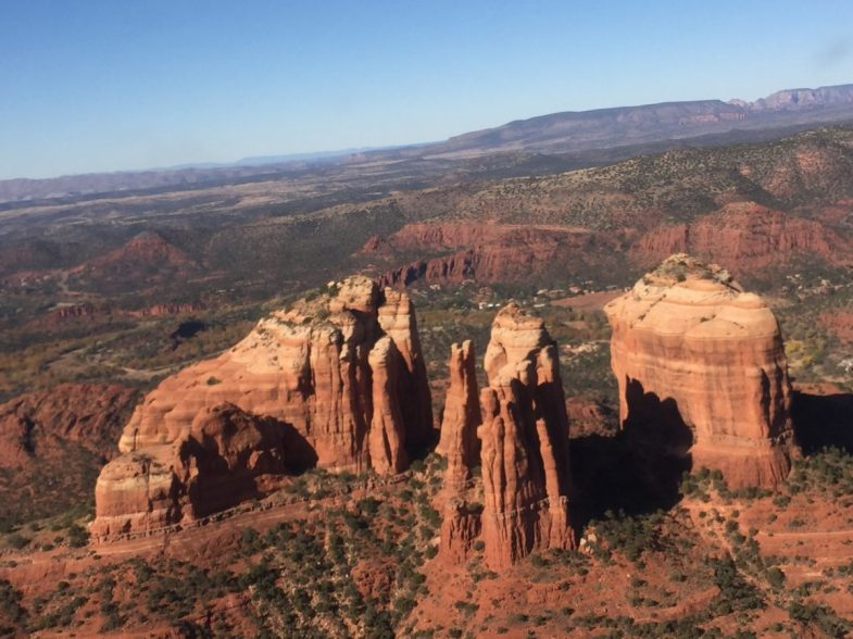 """View during our helicopter ride in Sedona, Arizona."" - Member Donald K."