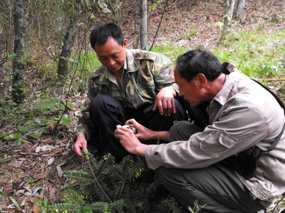 Rangers excited about taking photos and using GPS - skills to do patroling and monitoring Credit: Yang Jiqin/FFI