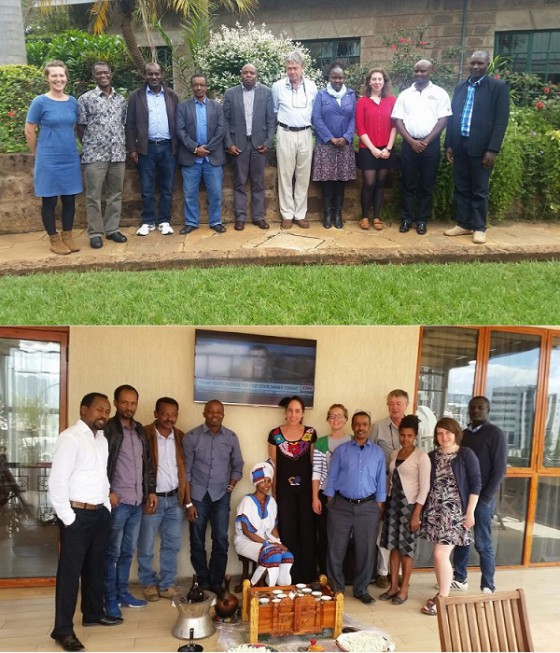 Participants at the Kenya Red List Workshop (above) and the Ethiopia Red List Workshop (below) in April 2018. Credit; Kirsty Shaw