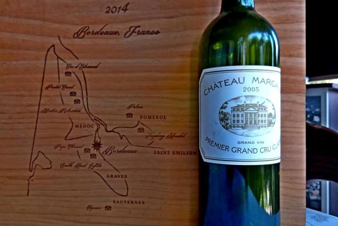 Bordeaux 2005 wine bottle