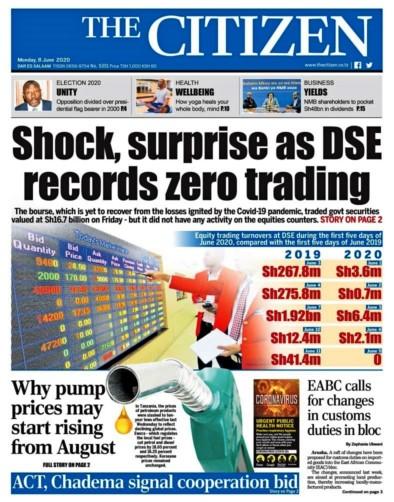 The citizen - DSE records zero trading