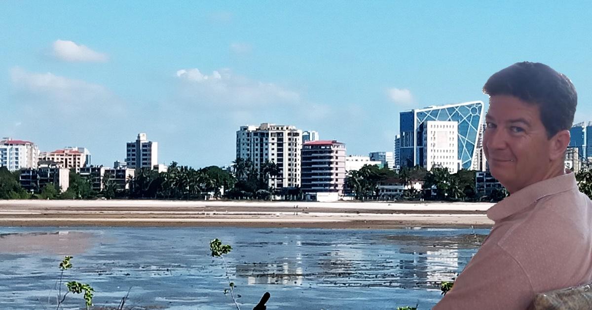 Dar es Salaam skyline and Tim