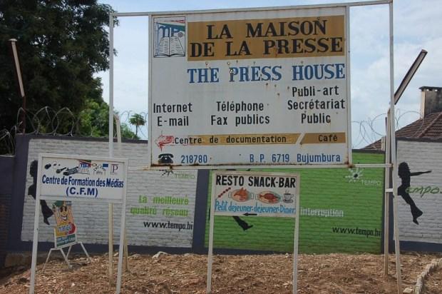 La Maison de la Presse à Bujumbura, dont l'accès a été bloqué pour les radios indépendantes. Photo sur Flickr de DW Akademie – Africa. CC BY-NC 2.0
