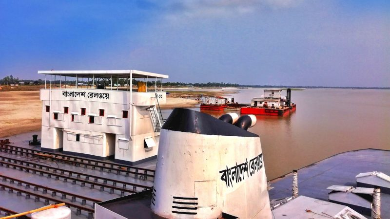 Bangladesh Railway has its own rail ferry fleet. As more and more railway bridges are being built in this riverine country, passengers do not need to use these ferries. Photo by Akibul Hasan Nizam via Bangladesh Railway Fan Group. Used with permission.