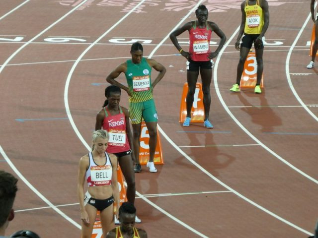 """""""Caster Semenya lines up"""" by zeetha is licensed under CC BY-NC-ND 2.0"""