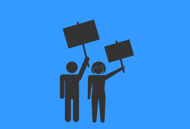 Image: Protest By Arturo Molina Burgos for Noun Project. Public domain.
