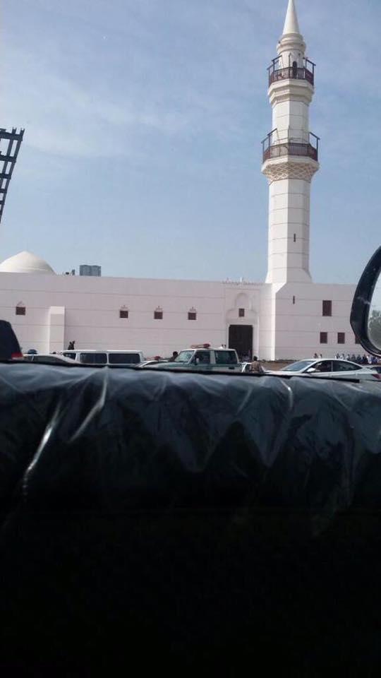 La mosquée de Jeddah où Badawi aurait été flagellé aujourd'hui. Photo partagée par Kacem El Ghazzali sur Facebook