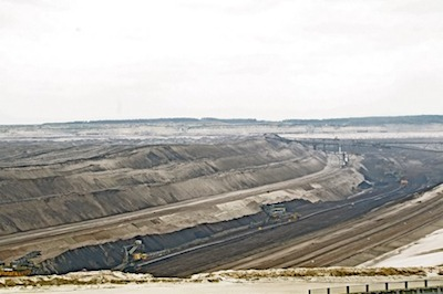 """Clean coal"" - an open mine pit in Brandenburg Germany"
