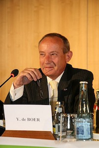 Kicking the Can Down the Road – UNFCC Chief Yvo de Boar Press Conference on the Aftermath of COP15