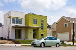 """An example of a """"postmodern"""" Solaris green home. Any house can be made greener!"""