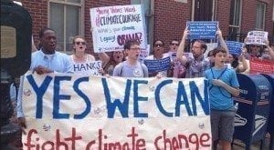 A group inspired by Obama's climate speech
