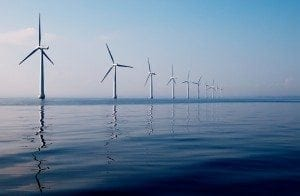 Offshore Wind turbines provide a large share of Denmark's power