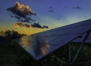 Renewables sources of energy, including solar, provide 100 percent of all new generating capacity in the U.S. in July