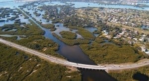 A marsh provides natural resilience to the Florida coastline