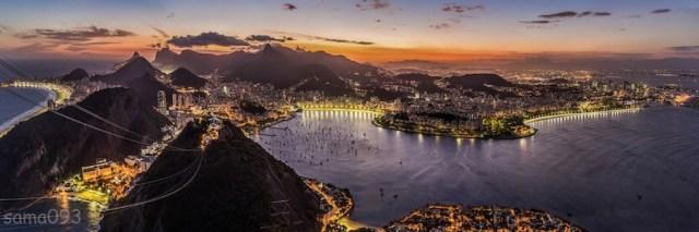 Copacabana Beach, the heart of the Rio summer olympics, 2016